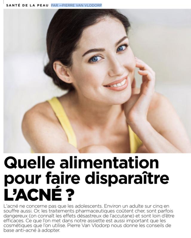 Quelle alimentation pour faire disparaître l'acné ?