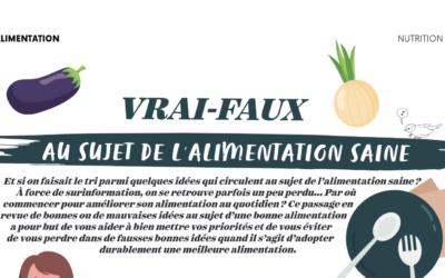 VRAI-FAUX 🤔 au sujet de l'alimentation saine